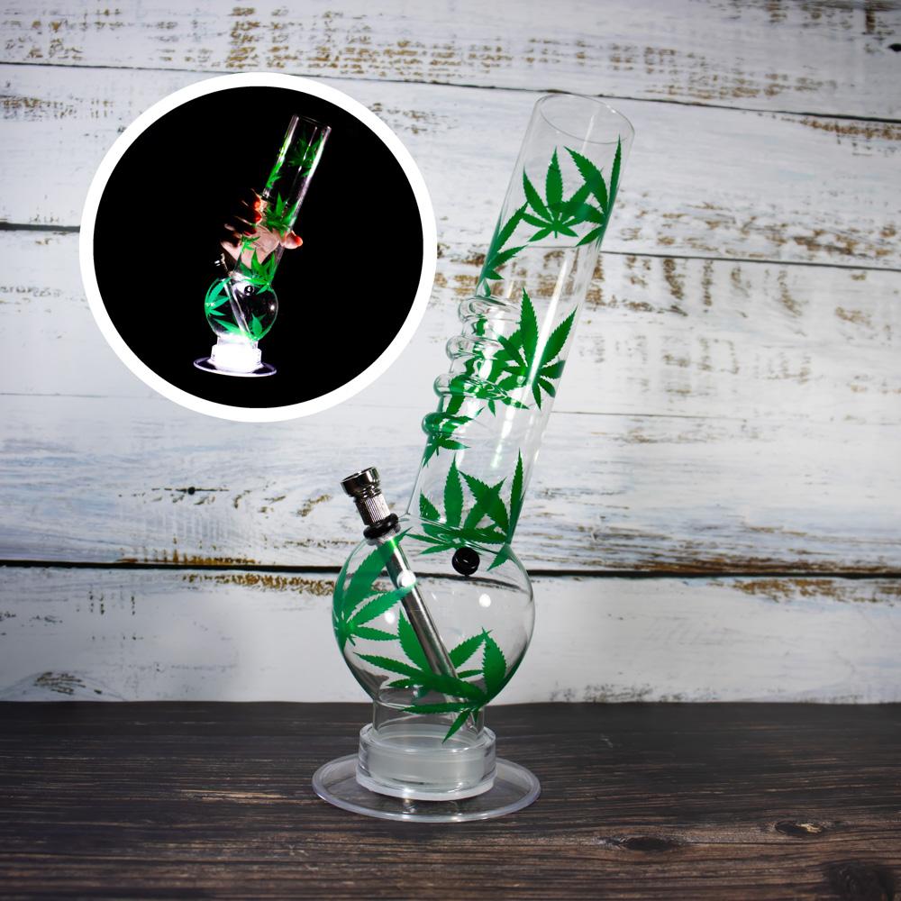 Акриловый курительный бульбулятор с подсветкой 32 см