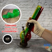 Бонг курительный акриловый Happy Rasta 31 см цветной