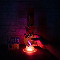 Оранжевый водный бульбулятор Party Led 32см Три режима подсветки