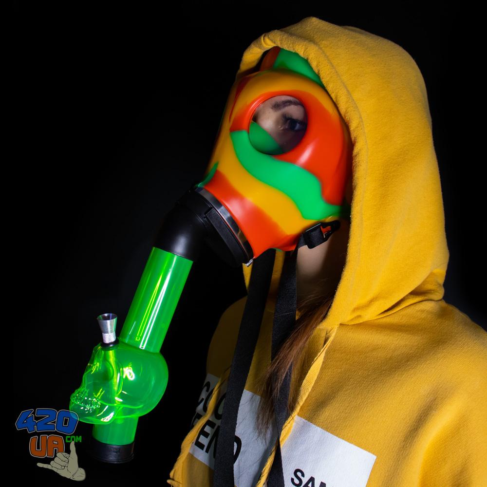 Курительный Бонг маска Противогаз Crazy Mask 420