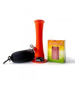 Бонг Силиконовый Бро 23 см оранжево красный Набор для курения травы
