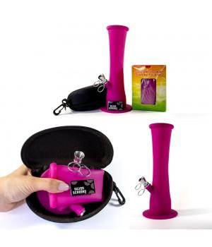 Небьющийся силиконовый курительный Бонг Пурпурный Бро 23 см + Подарки