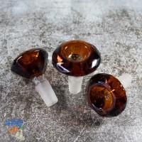 Глубокая стеклянная чаша для бонга Diamond 14 мм Янтарь + вечная сетка