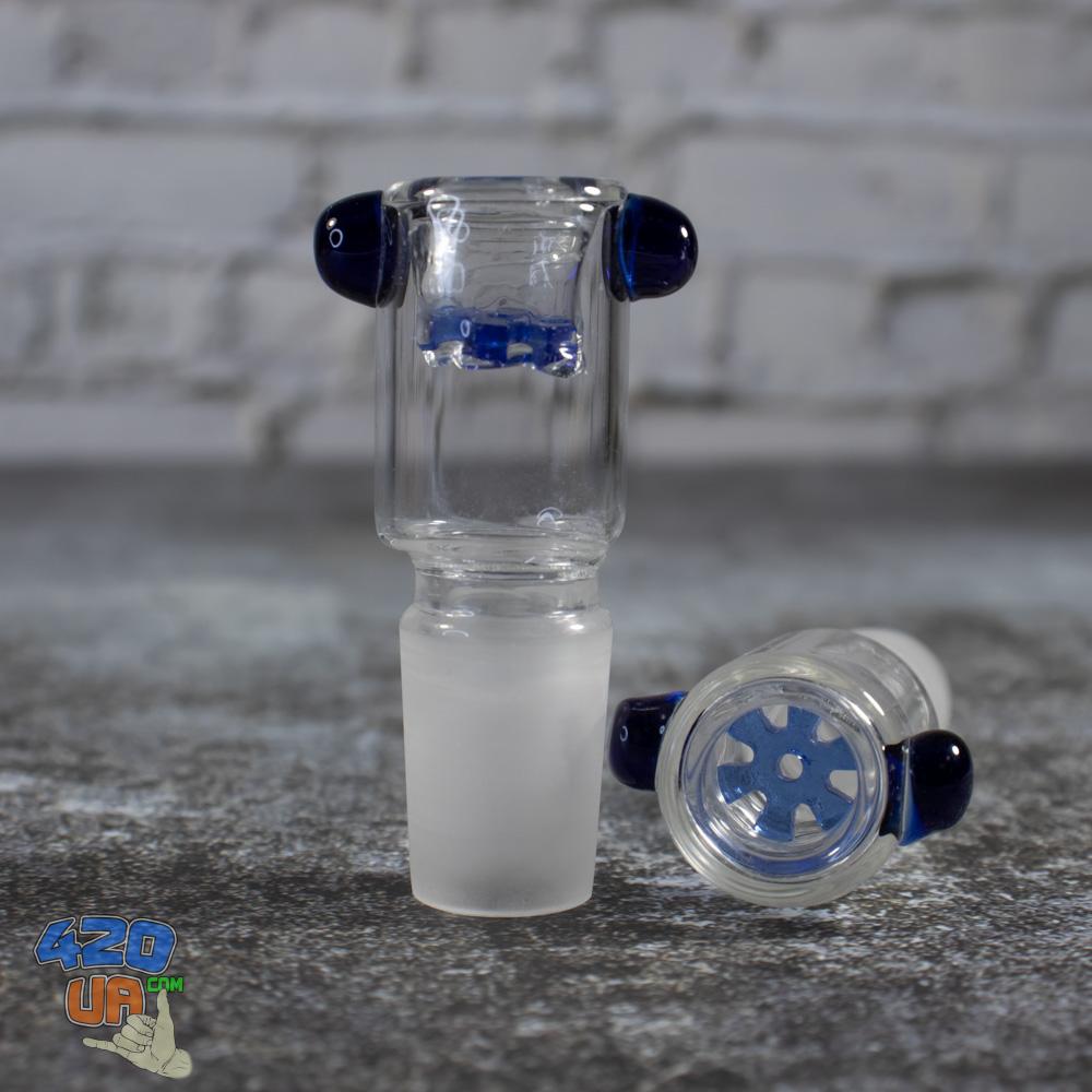 Стеклянная чаша для бонга Бочонок 19 мм с встроенной сеткой