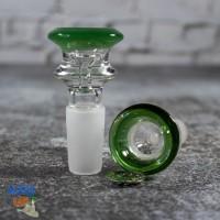 Стеклянный колпак для бонга 14 мм Elegant Green чаша + супер сетка!