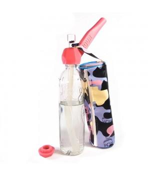 Трубка баблер 2 в 1 Easy Stoner 420UA Pink