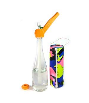 Трубка бонг 2 в 1 Easy Stoner 420UA Orange