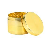 Большой Золотой Гриндер из металла 55 мм 4 части
