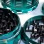 Гриндер 63мм Top Grinder с прозрачной крышкой Зелёный