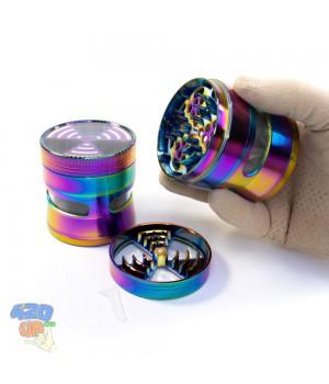 Гриндер для шишек Neon 63 мм с окошком и уникальными прочными ножами