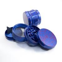 Крешер для стаффа Titan Premium 60мм 4 части Синий из титанового сплава