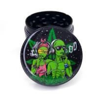 Гриндер для травы Инопланетяне 420 Черный 40мм четырех секционный