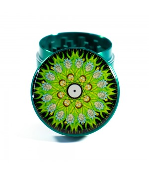 Металлический Крешер для шишек Rick and Morty Hypno Зеленый 40 мм