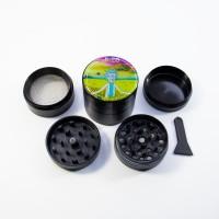 Портативный гриндер для травы 40 мм Rick and Morty Relax 420 Чёрный