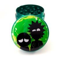 Зеленый гриндер для шишек Rick and Morty 40 мм металлический 4 части