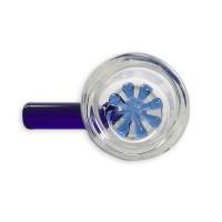 Колпак для бонга с синей сеточкой и ручкой 14,5 мм