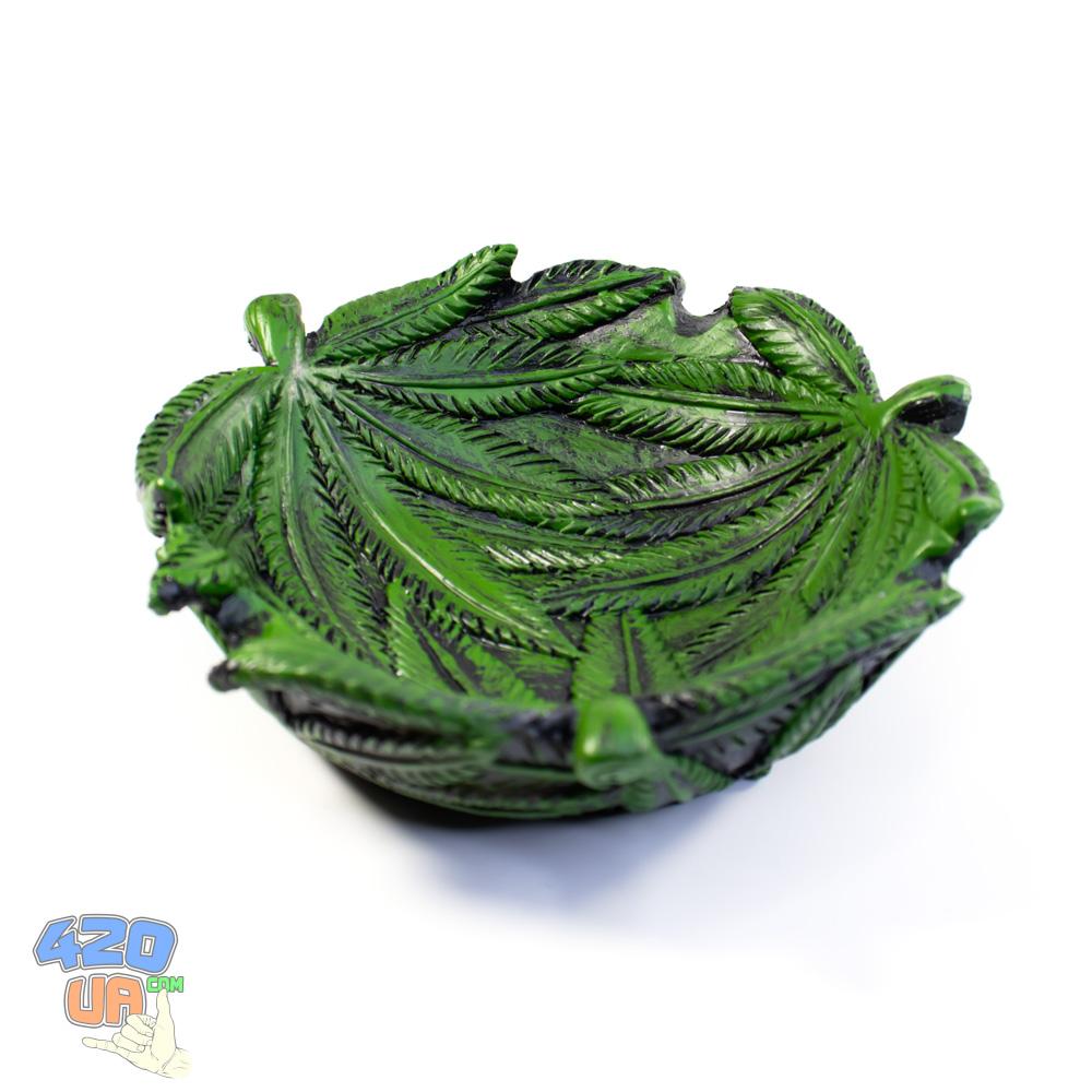 Пепельница Green Weed 420 Листья конопли
