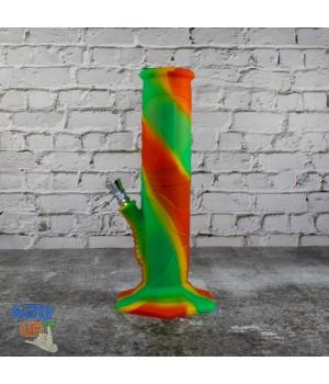 Компактный 23 см Силиконовый разноцветный курительный Бонг