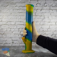Неубиваемый мягкий 35см Бонг из силикона с металлической чашей для курения