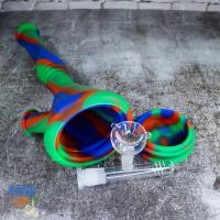 Силиконовый Бонг для курения 31 см с шипами для льда и чашей из стекла