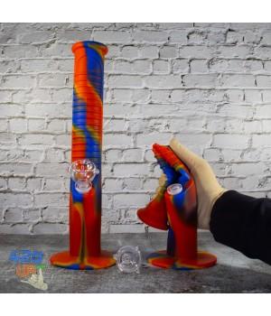 Премиум Силиконовый бонг 35см с чашей из боросиликатного стекла