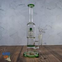 Бонг стеклянный Green Flow 26 см с барабанным и Honeycomb перколяторами
