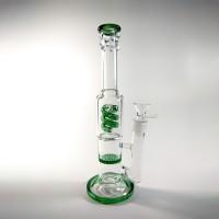 Стеклянный бонг Jungle Зеленый с спиральным и Honeycomb перколяторами