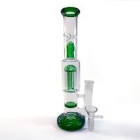 Стеклянный бонг  Топ Комбо Зеленый курительный с лучшими перколяторами