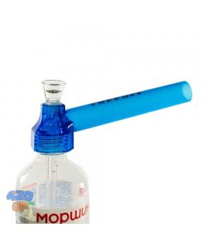 Походный бонг TopPuff Синий - Трубка насадка на бутылку для 420 курения