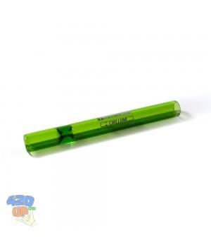 Стеклянная трубка Чиллум 11 см Зелёная Chillum для курения