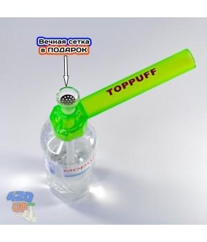 Трубка бонг насадка на бутылку Top Puff USA green для курения травы