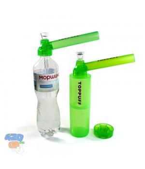 Туристический бонг Top puff 2 Тубус Зелёный Трубка для травы на бутылку