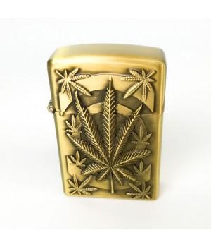 Металлическая Турбо Зажигалка Weed Gold