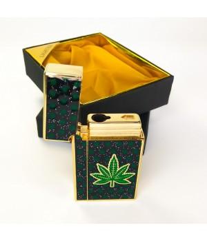 Подарочная зажигалка  420 с листом конопли и Секретом