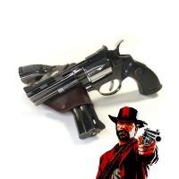 Зажигалка Револьвер с Кобурой и турбо пламенем