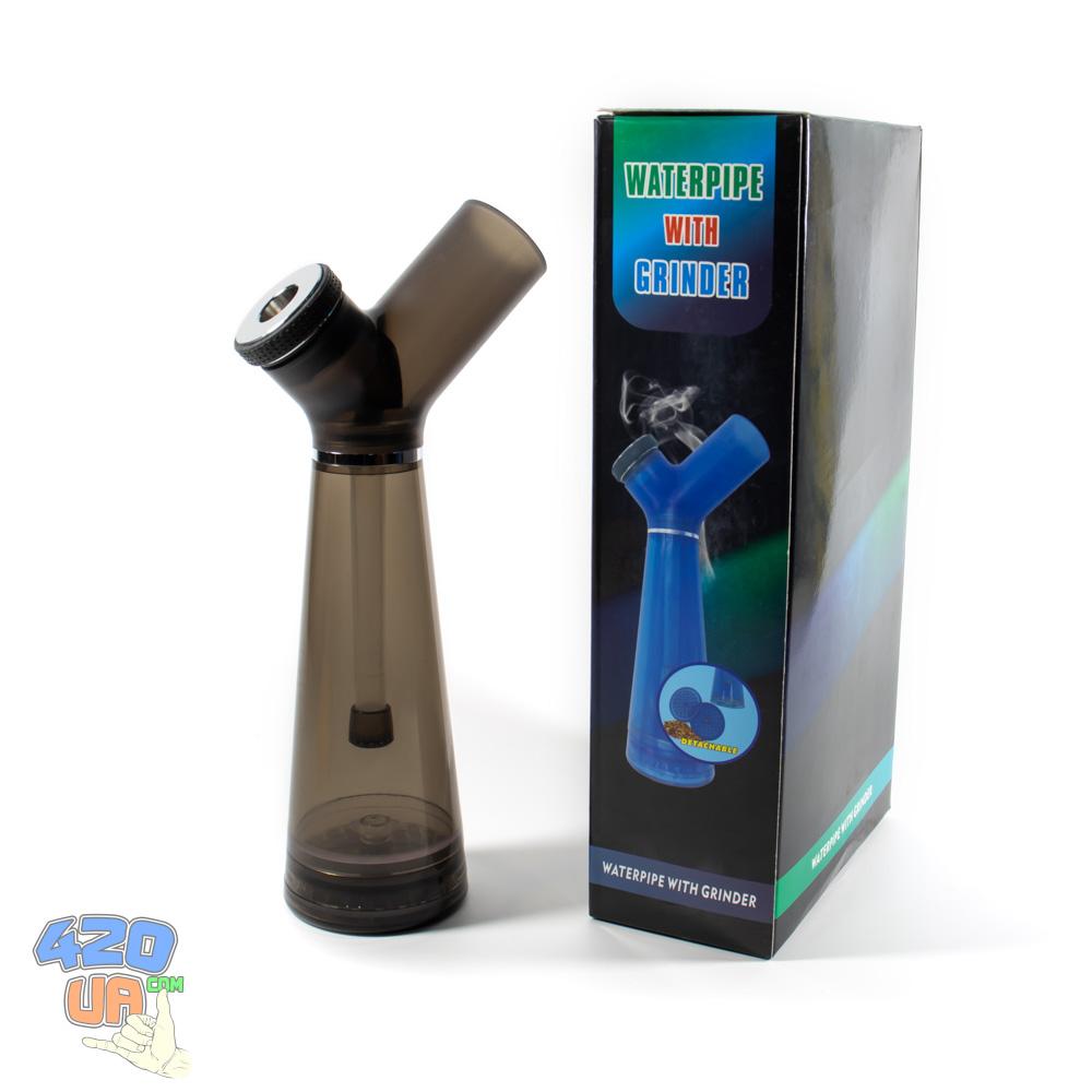 Разборной курительный бонг для травы 3в1 Portable с гриндером на магните