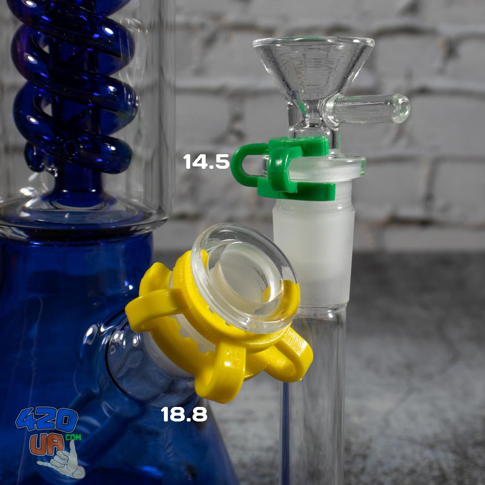 Соединительная Клипса для бонга 18,8 с стеклянным адаптером шлифом