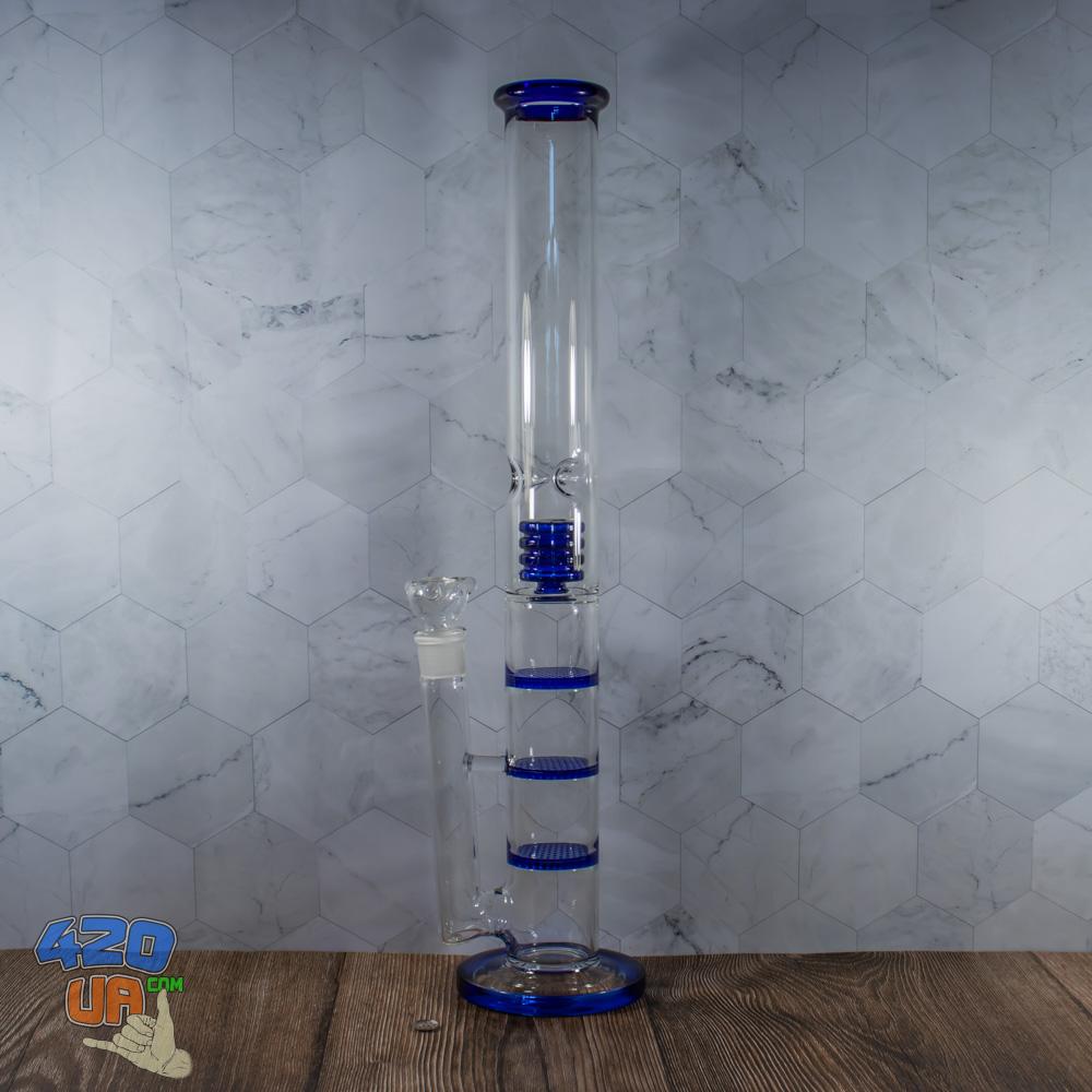 Стеклянный 50 см бонг для курения BiG Sota три Honeycomb перколятора
